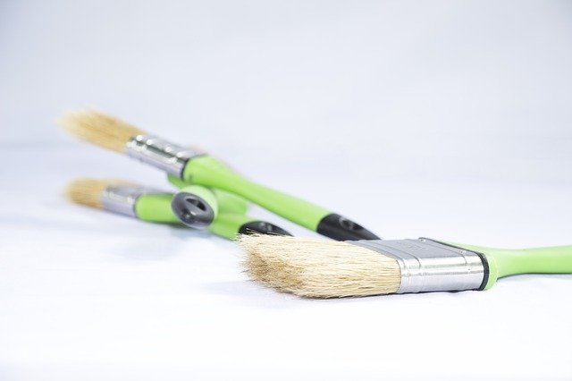 A green toothbrush