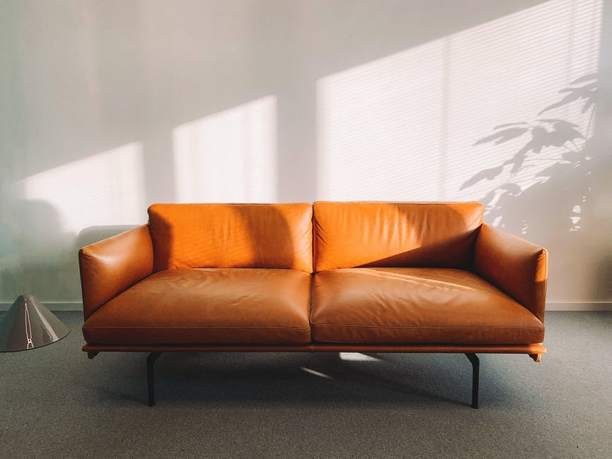 A sofa in a room